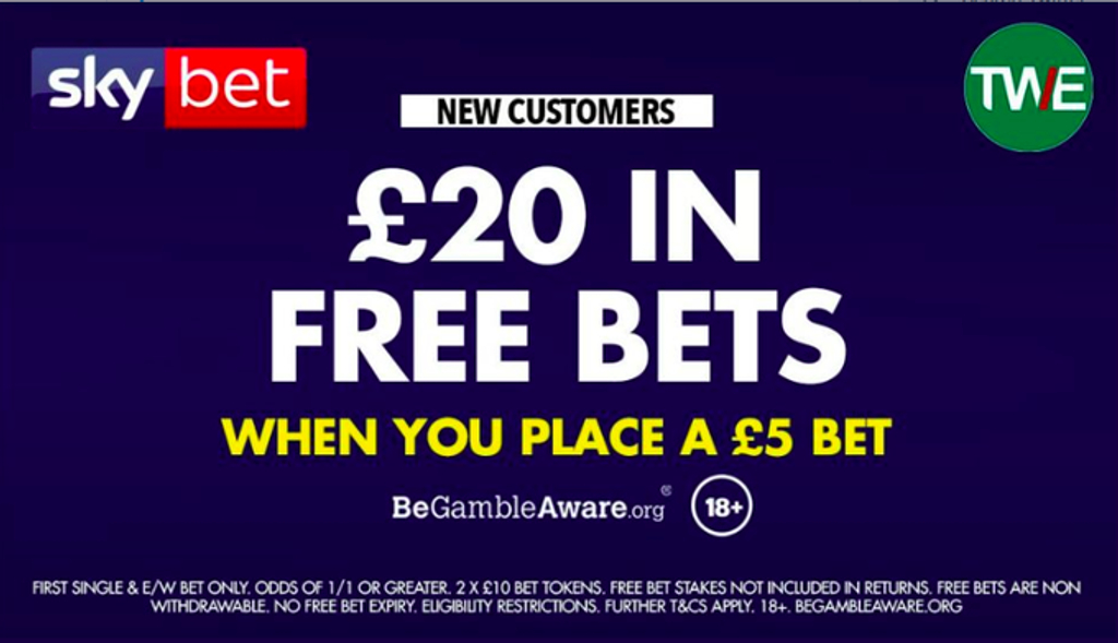 Sky Bet Sign Up Offer | Bet £5 get £20 | The Winners Enclosure