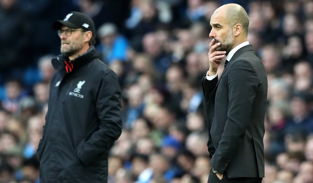 Pep Guardiola Manchester City Jurgen Klopp Liverpool