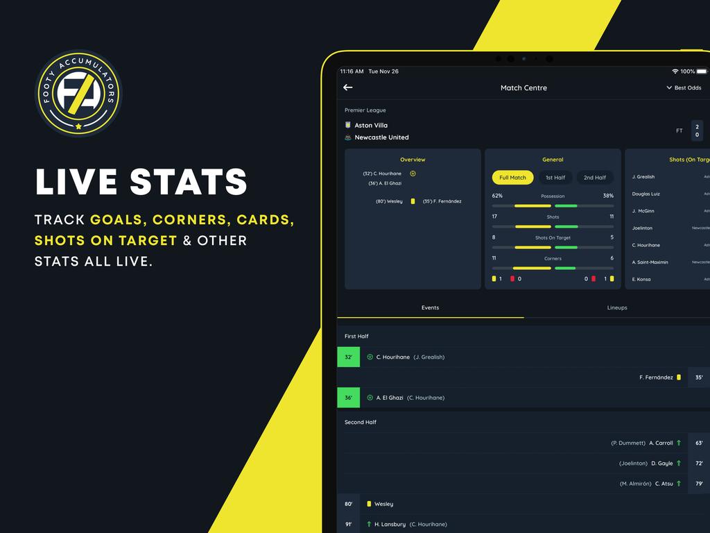 betting hub live stats