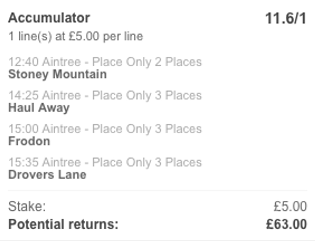 11/1 Stats Acca