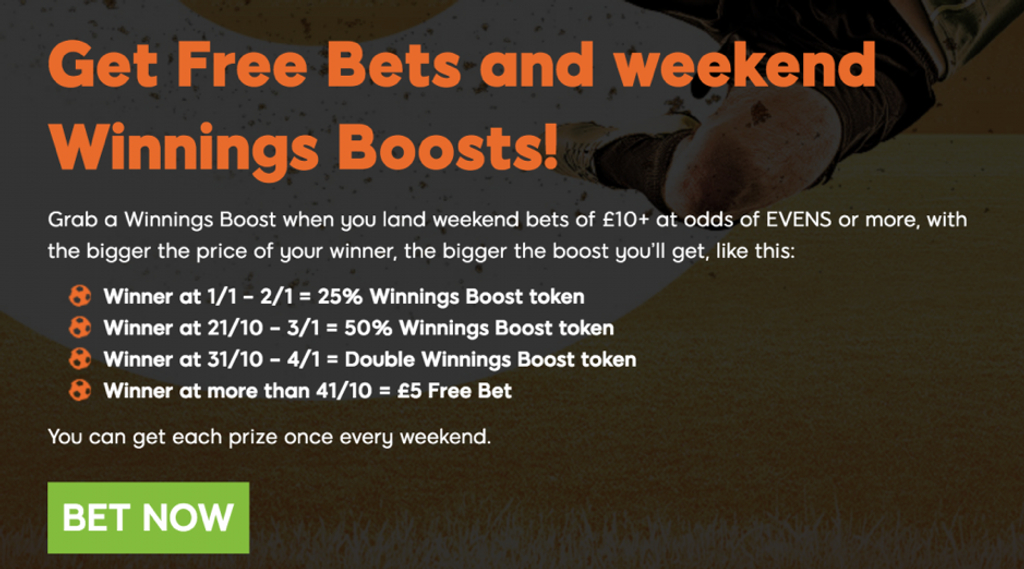 888sport free bet and weekend boost