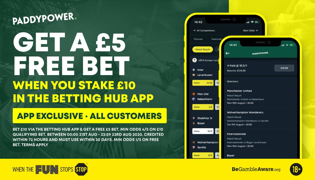 paddy power Betting hub free bet