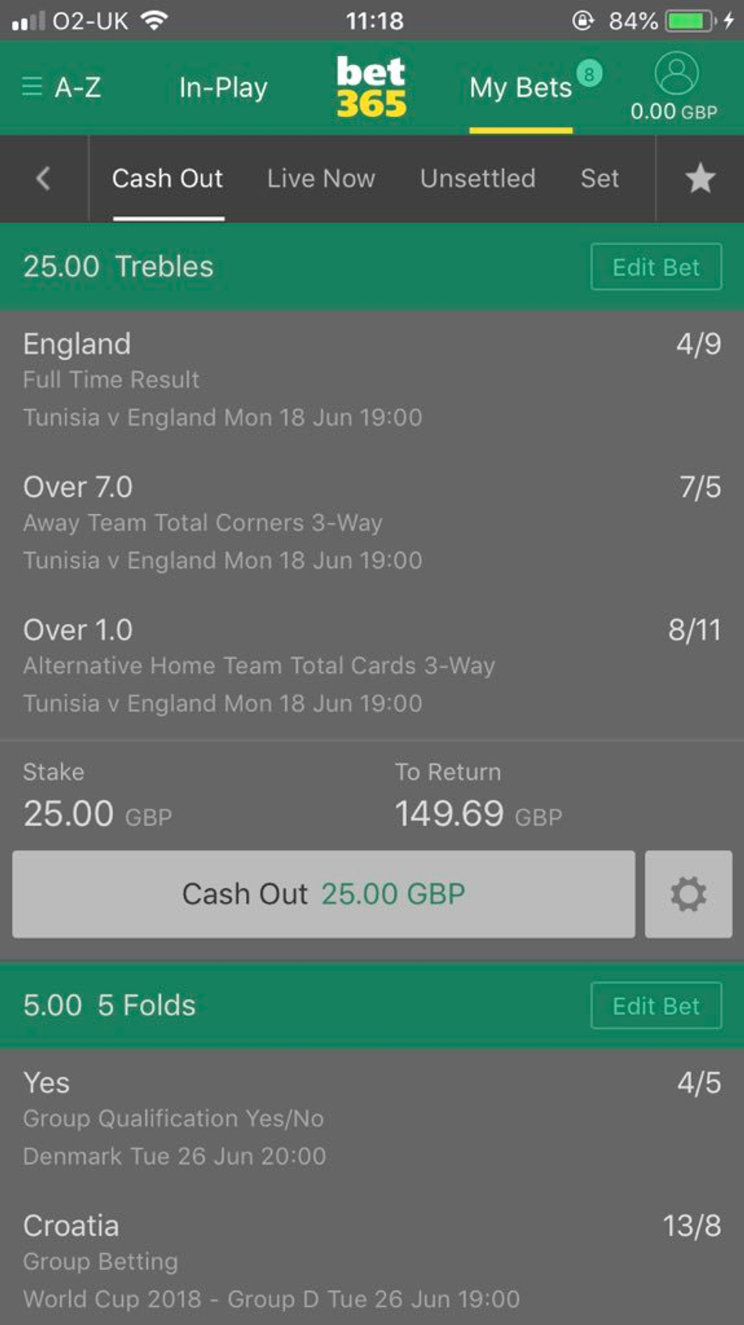 Cash out betting bet365 football toleranz zeichen plus minus betting