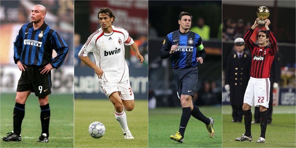 Ronaldo Maldini Zanetti Kaka