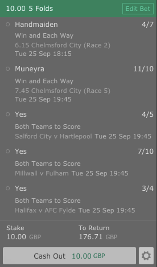mixed acca 25th