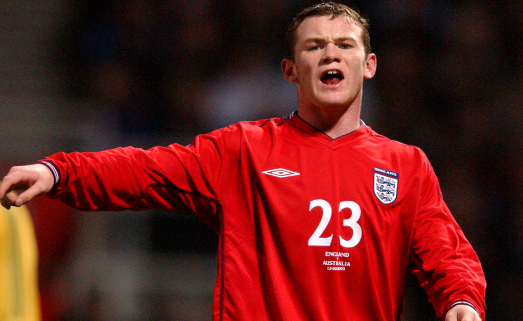 Image result for wayne rooney england debut