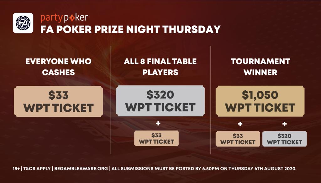 poker prize night tiers