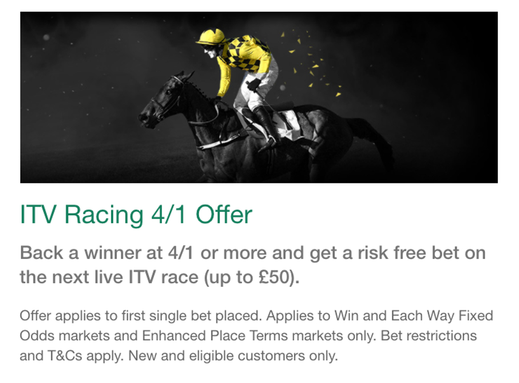 what is the itv 4/1 racing offer