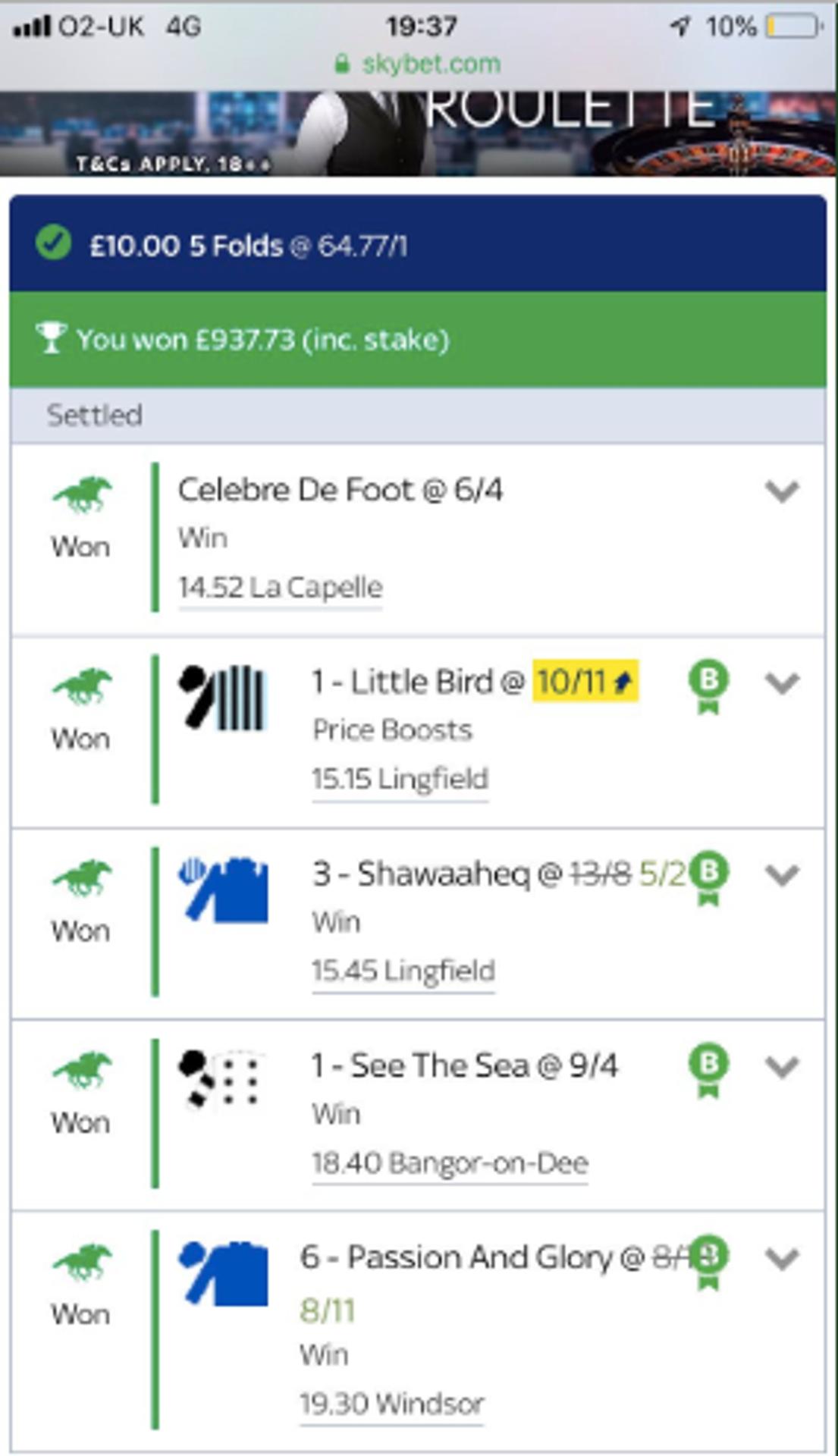 winners horse betting