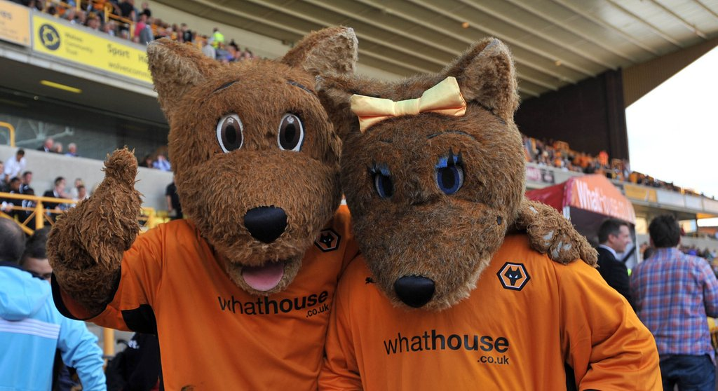 Wolves Wolfie Wolf Mascot