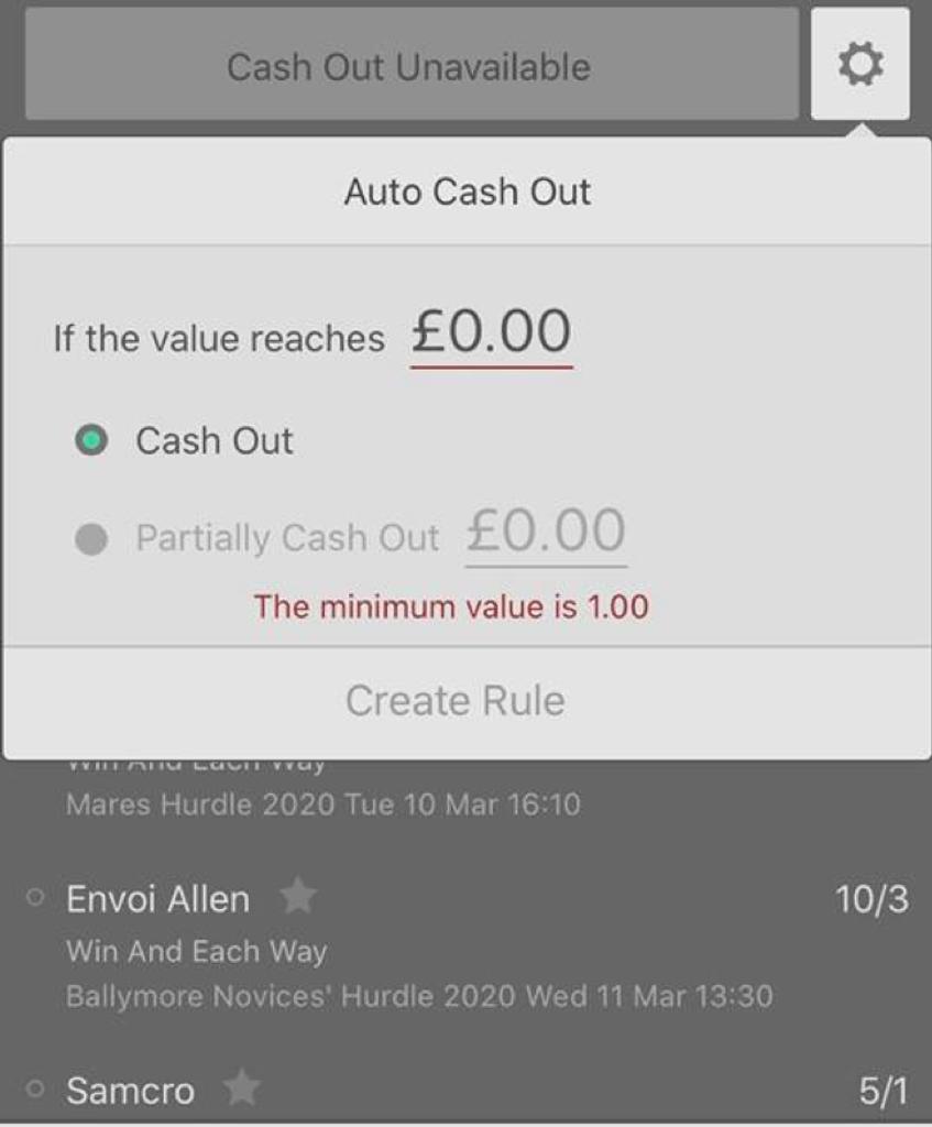 Cash out auto