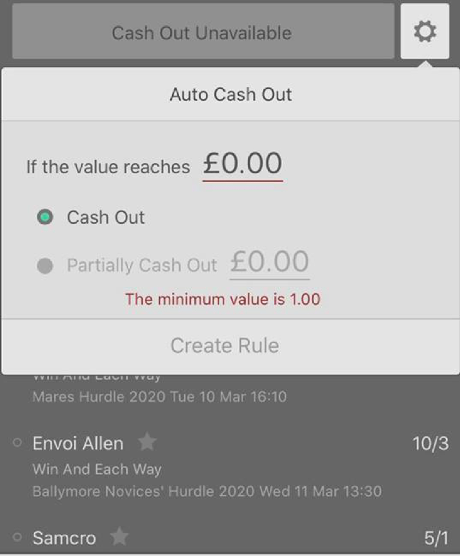 Cash out betting bet365 football 1 2 in decimal form betting trends
