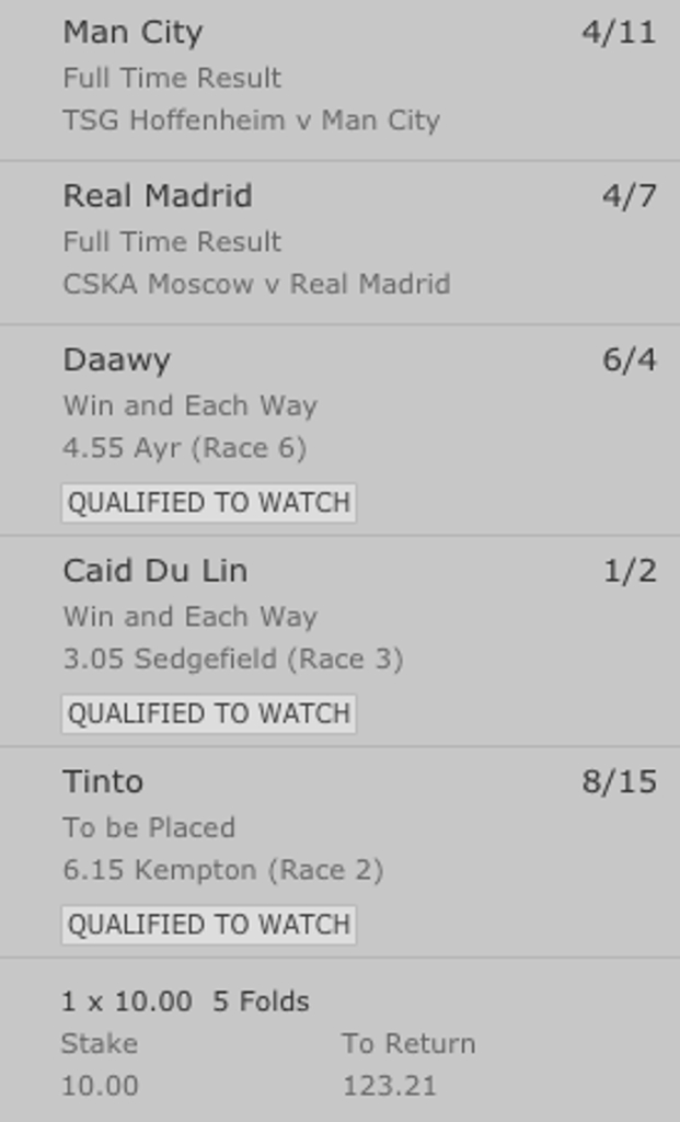 Mixed Acca Tuesday