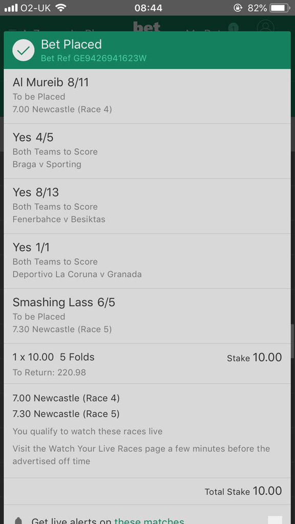 bet 365mixed acca 24/09/18