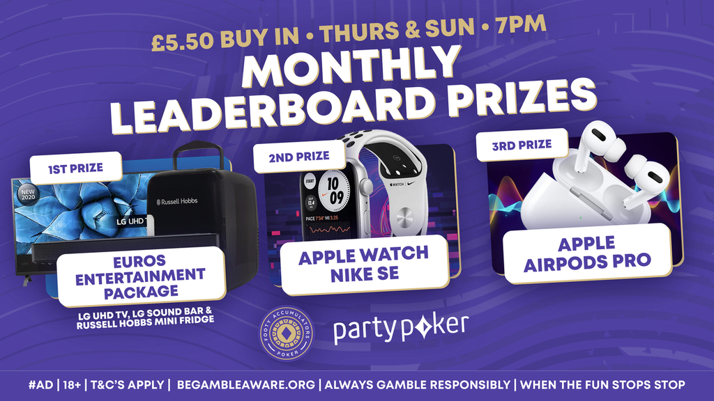 monthly poker prizes may