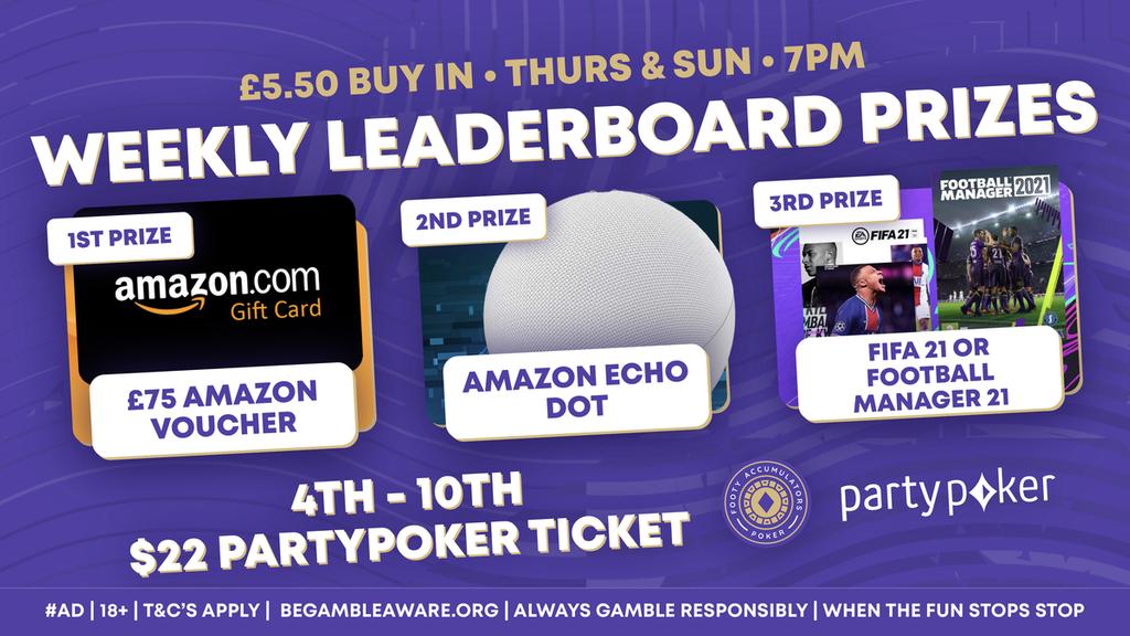 weekly leaderboard prizes may