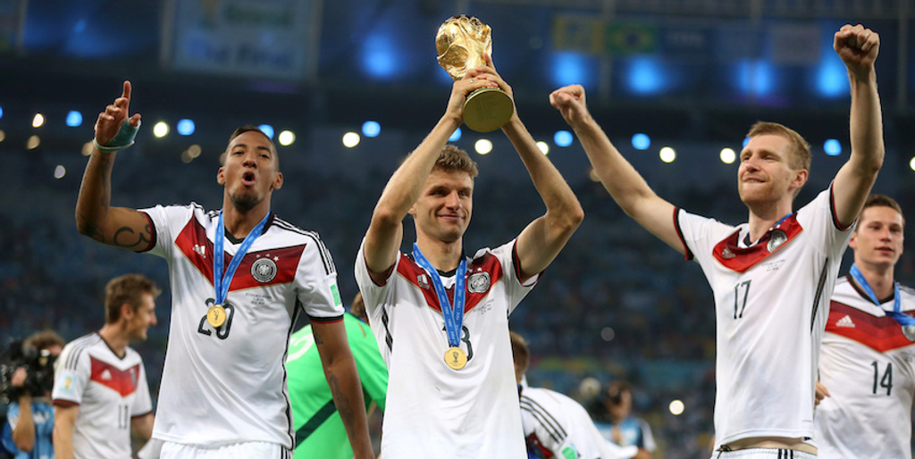 Thomas Muller Jerome Boateng Germany World Cup