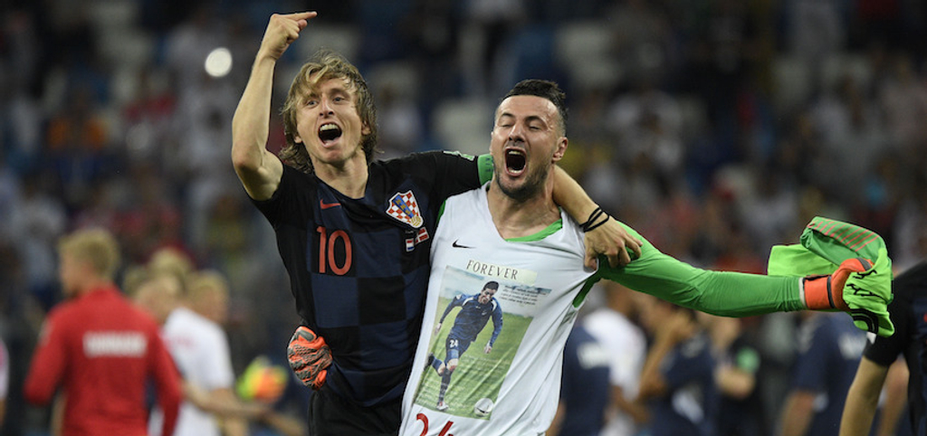 Luka Modric Danijel Subasic Croatia World Cup