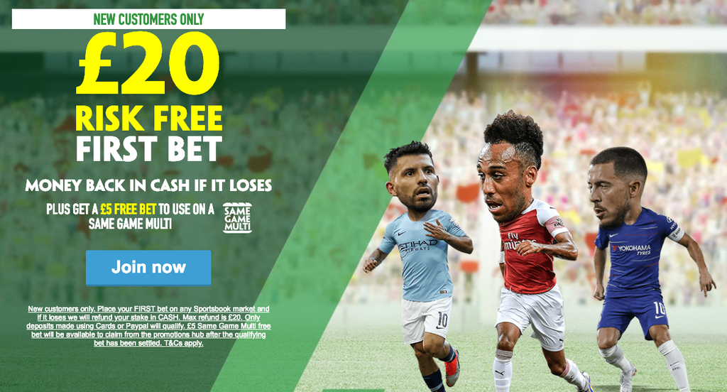 Paddy Power Risk Free 20