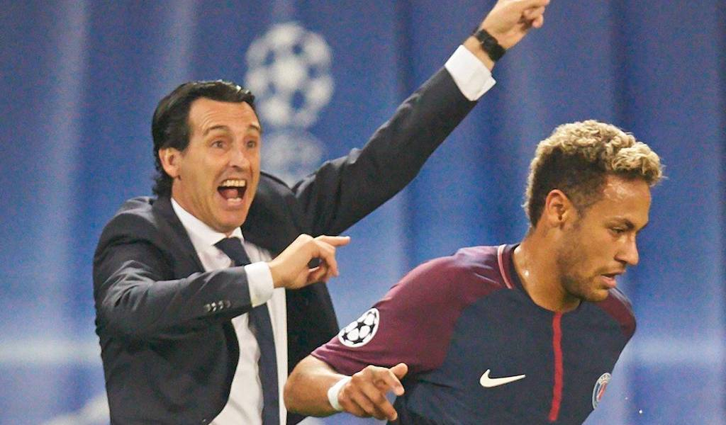 Unai Emery Paris Saint Germain Neymar PSG