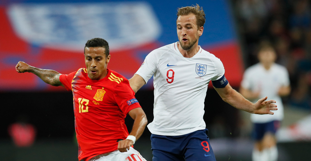 Harry Kane Thiago Alcantara Spain England 2-1 Wembley Stadium