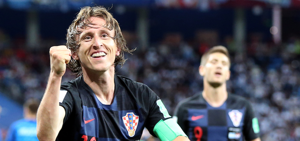 Luka Modric Andrej Kramaric Real Madrid Croatia World Cup 2018