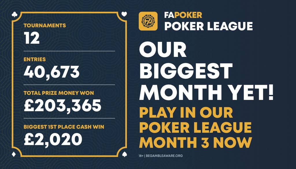 month 2 poker round up