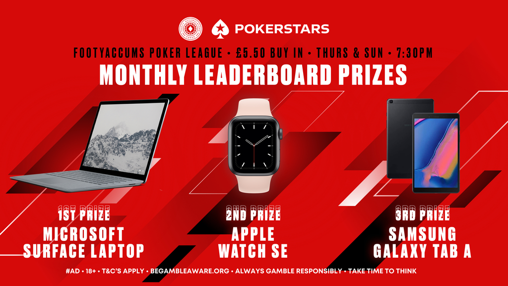 monthly leaderboards pokerstars