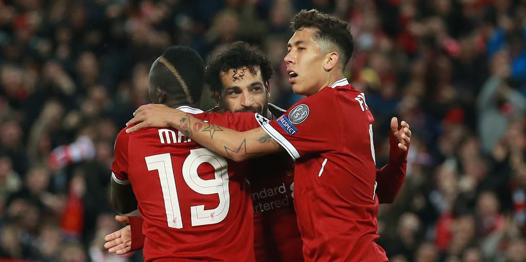 Liverpool Champions League Sadio Mane Mohamed Salah Roberto Firmino