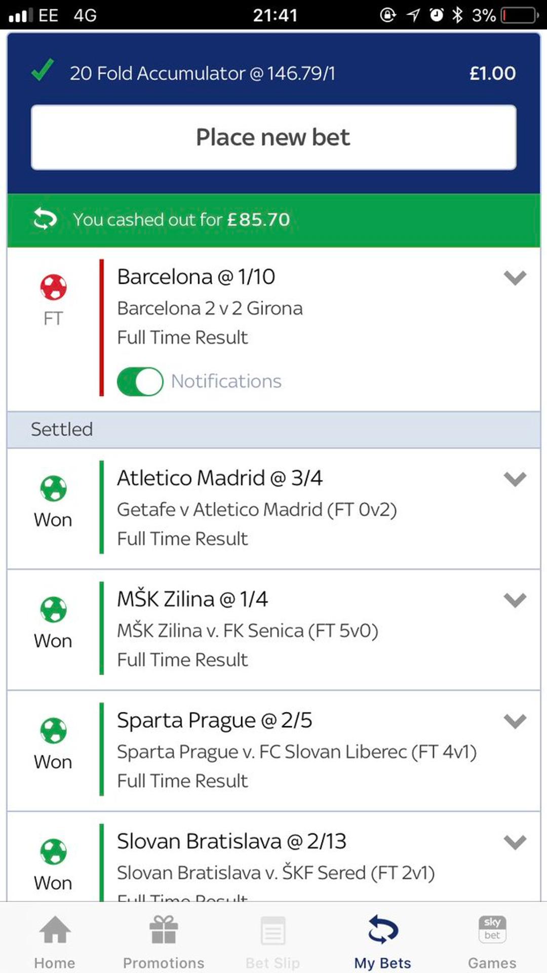 Fold betting football dortmund betting odds