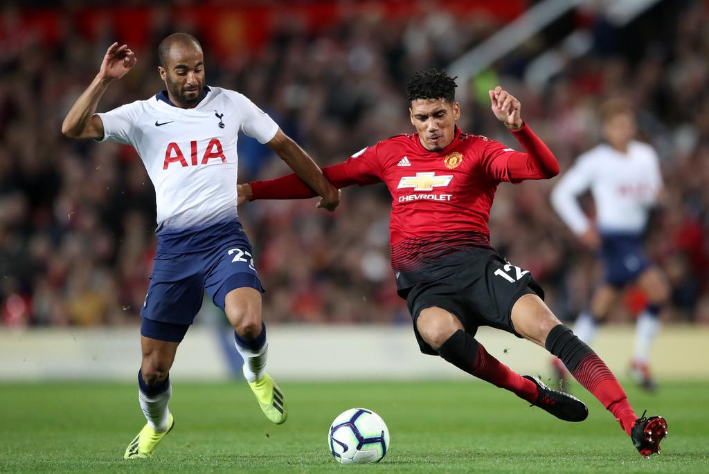 Chris Smalling Lucas Moura Tottenham Manchester United