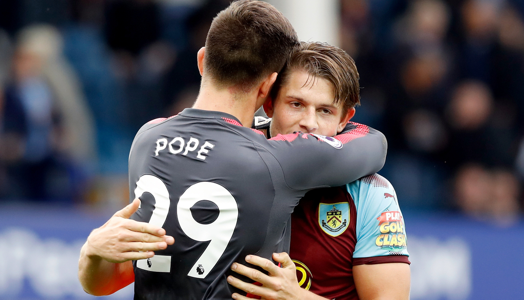 Nick Pope James Tarkowski Burnley