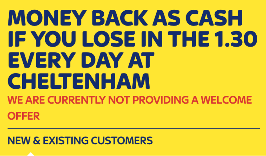 Sky Bet Money Back Cheltenham