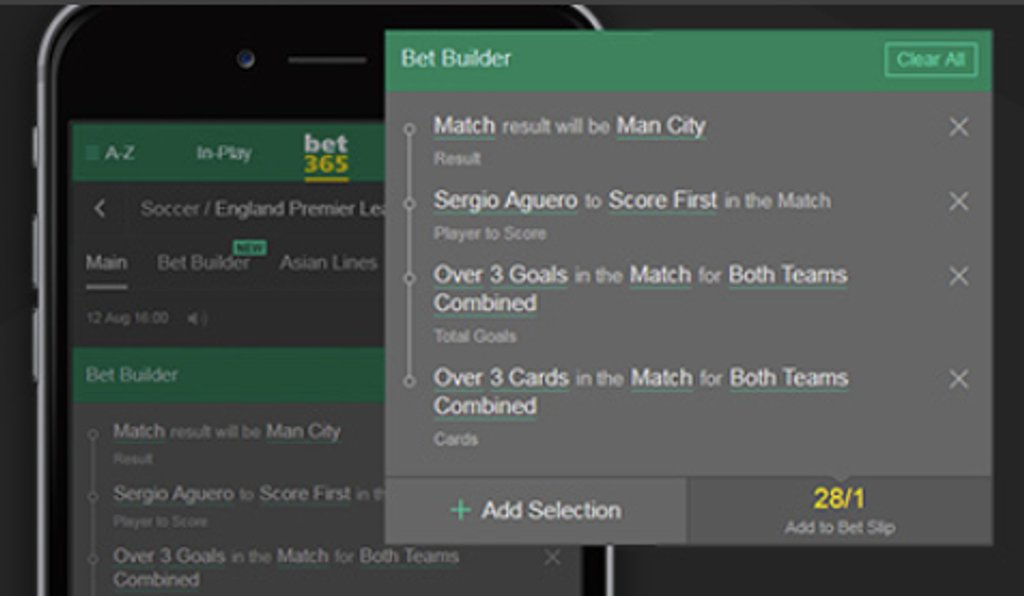 Bet builder example