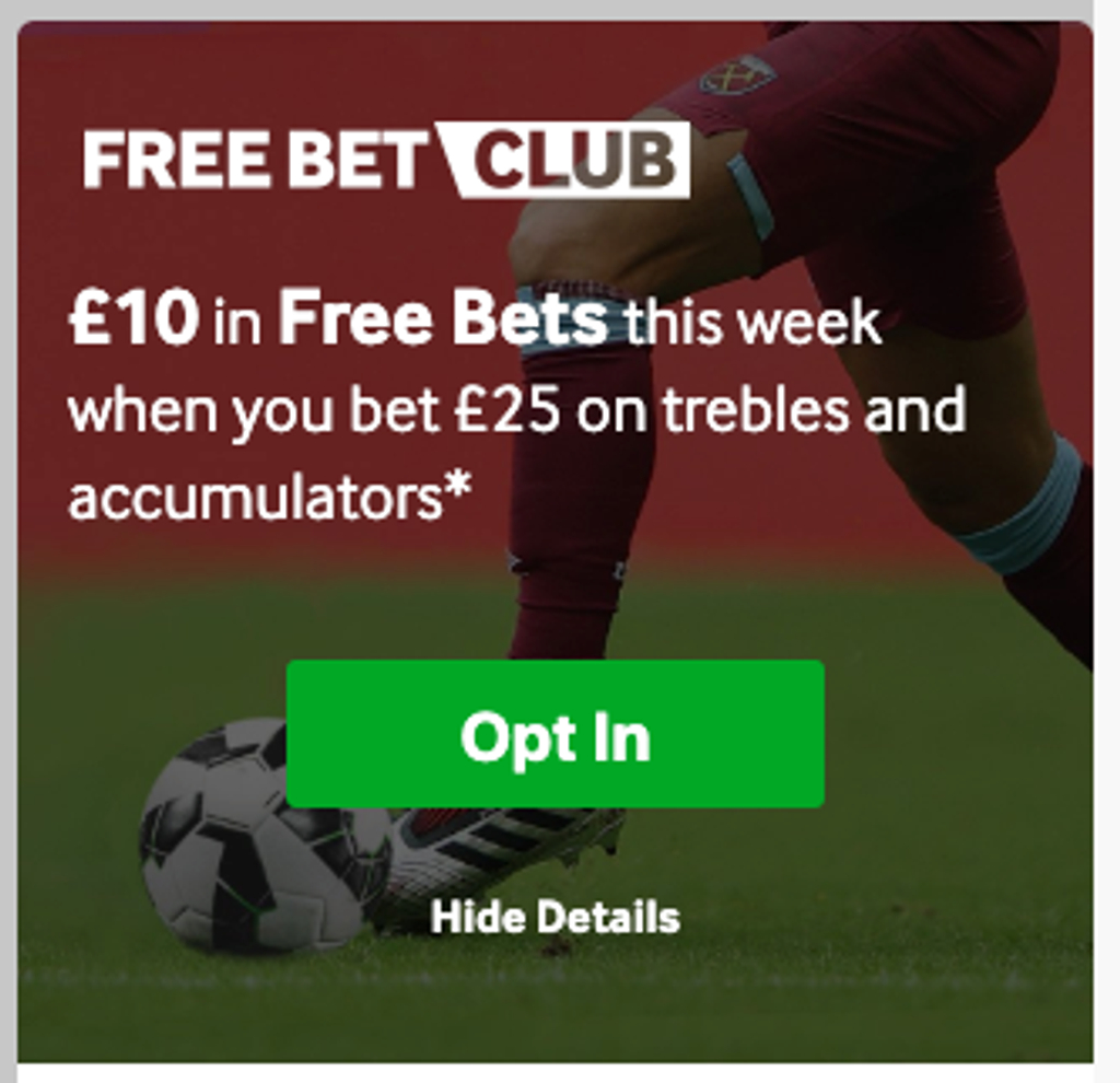 betway free bet club