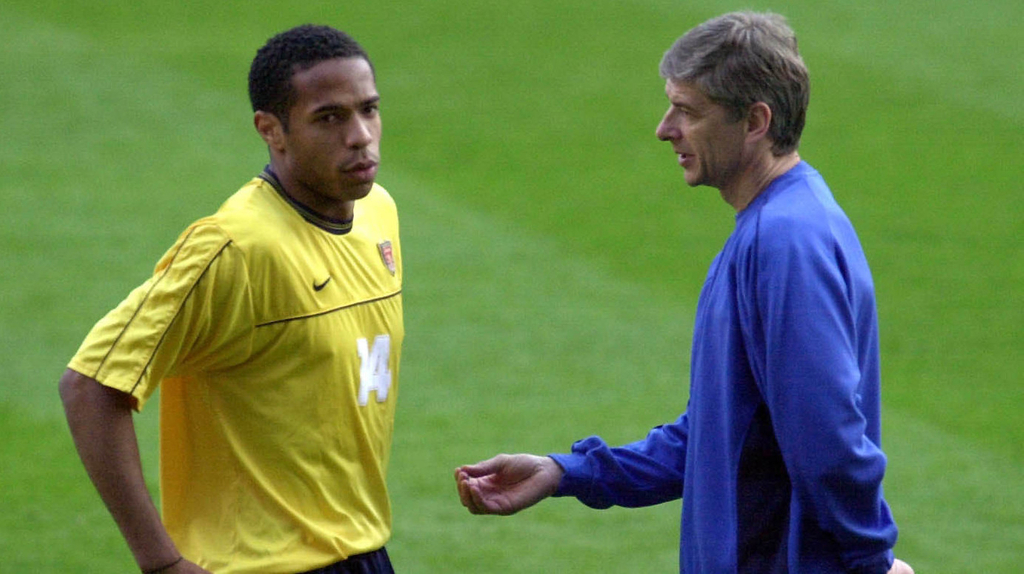 Arsene Wenger Thierry Henry Arsenal France