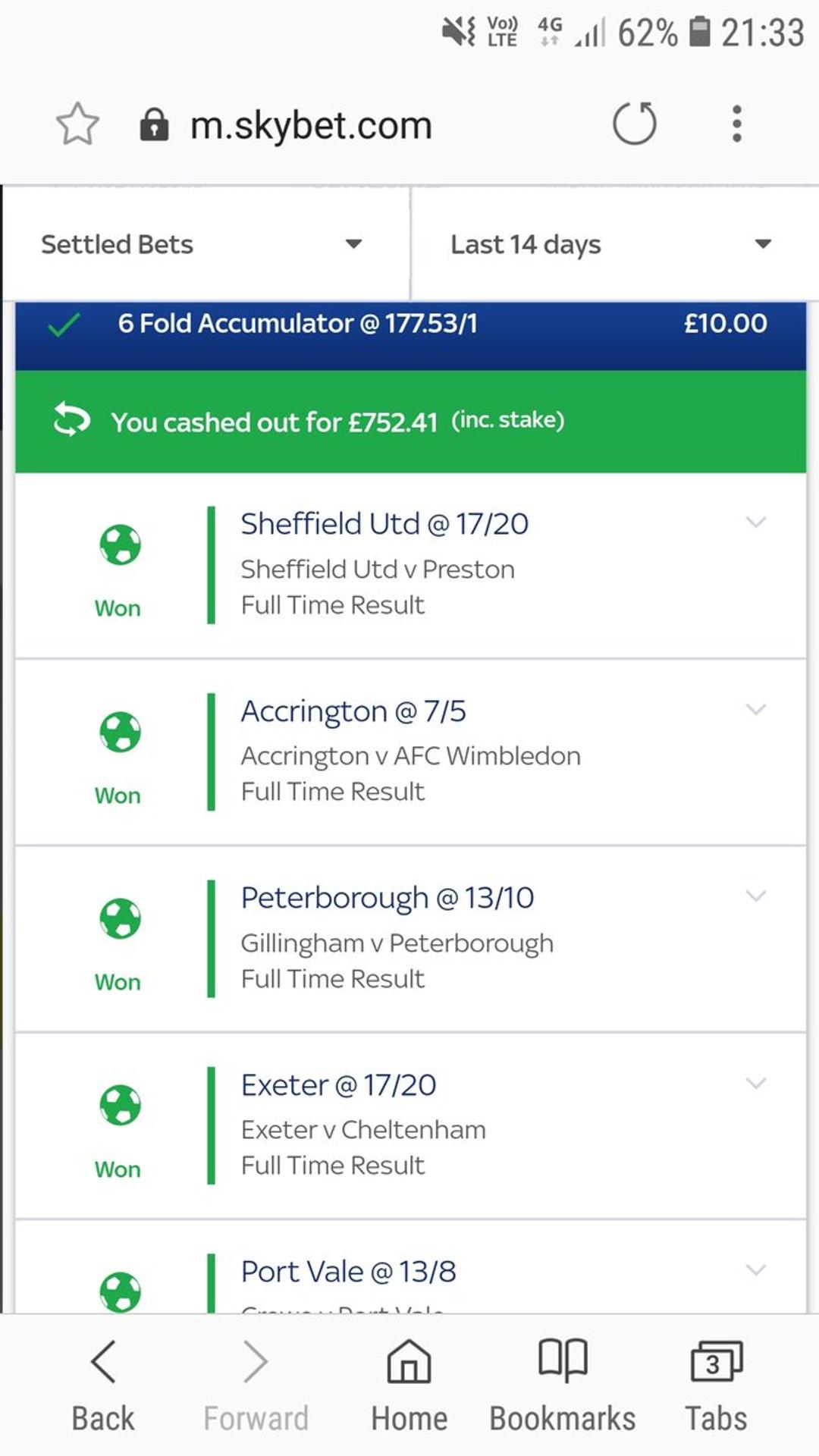 Football accumulators sky betting spread betting payout chart