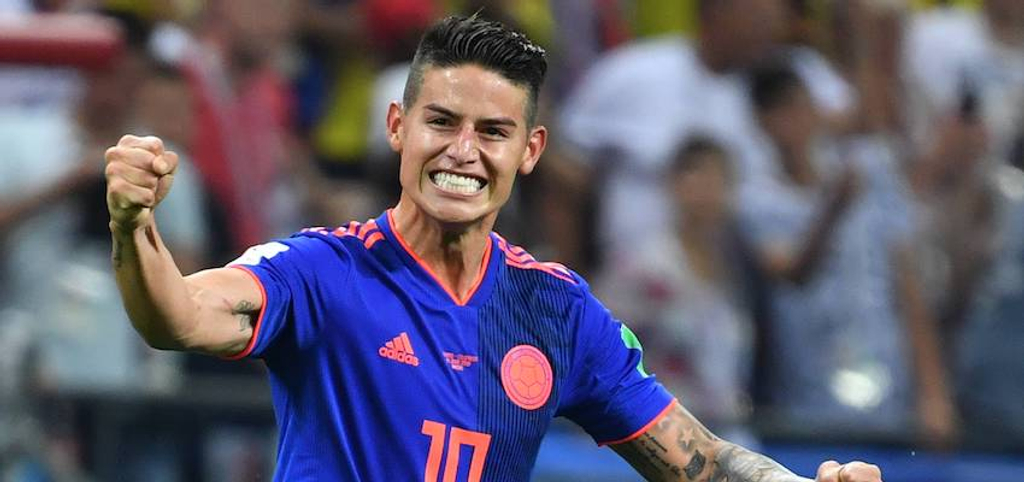 James Rodriguez Colombia Bayern Munich Real Madrid