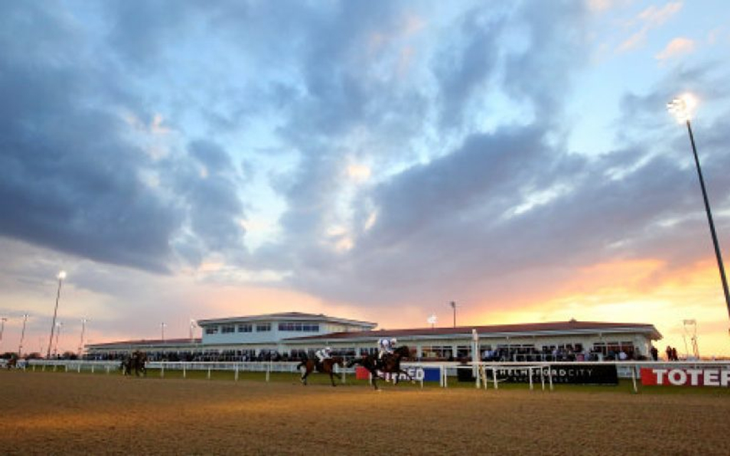 Chelmsford racecourse under the lights