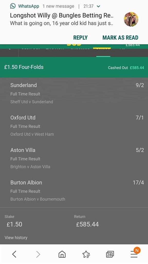 Sunderland vs bournemouth betting calculator cash out betting ladbrokes poker