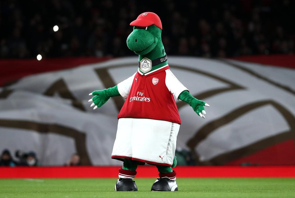 Arsenal Gunnersaurus Mascot
