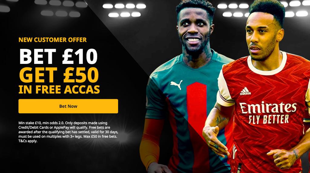 Bet £10 get £50 betfair