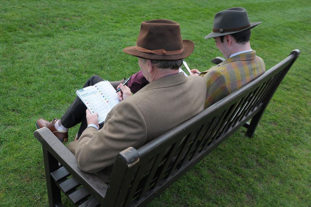 punters betting at the cheltenham festival